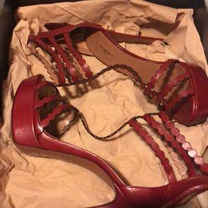 Alaia heels 👠 Rouge Pompei